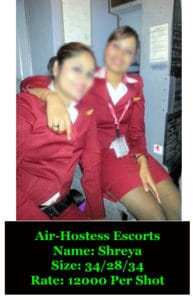 Air Hostess Escort In delhi